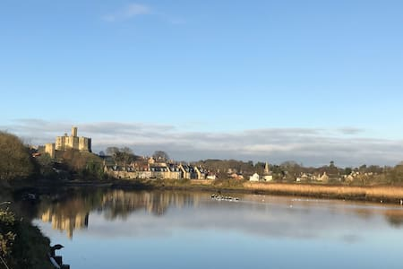 Waterside house in medieval village - Warkworth