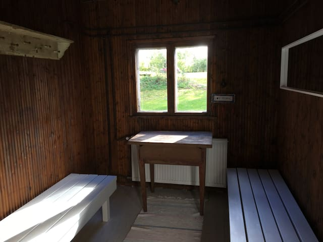 Traditional sauna for summer season use