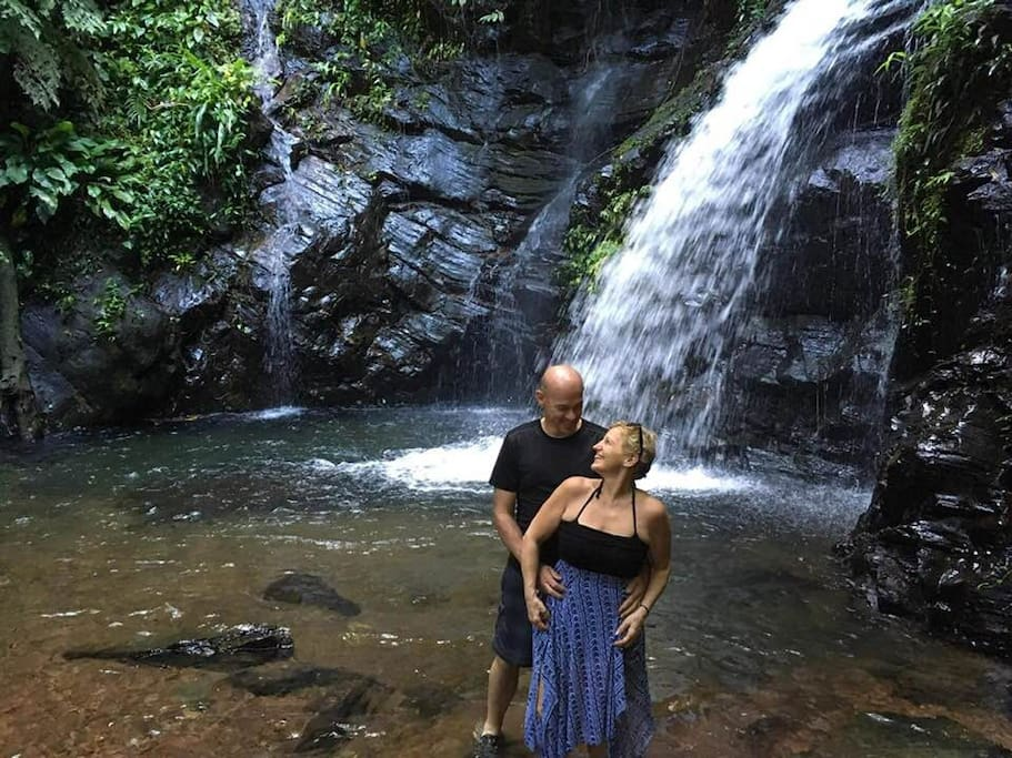 This picture was taken at a waterfall about 20 minutes from our house.  A wonderful place to visit.  Details provided at time of booking