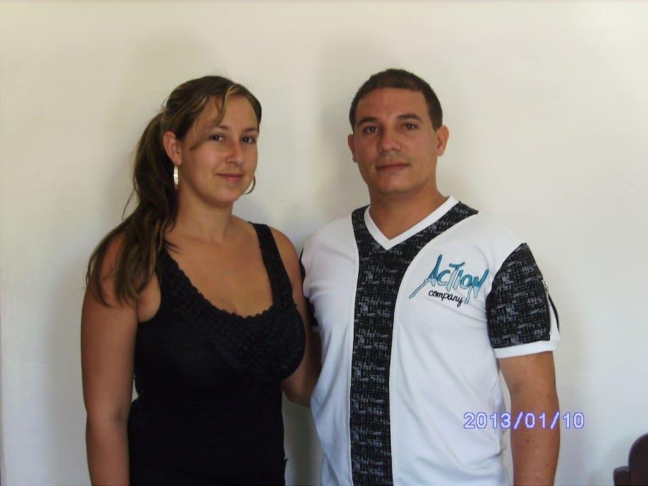 Foto de Fidel y Yesenia