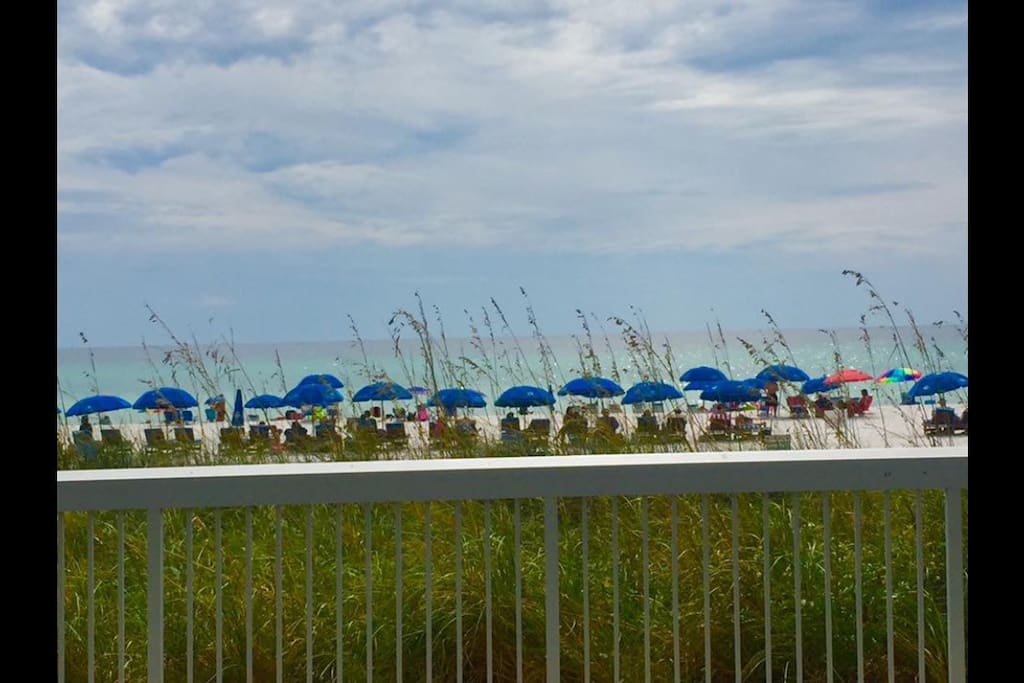 Beach view from Edgewater's main pool area