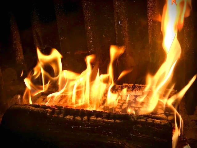 Camino con fuoco a vista, praticissimo inserto ventilato
