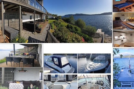 Large holiday retreat, sea front with private pier