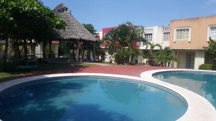 Hermosa casa con alberca en Veracruz puerto