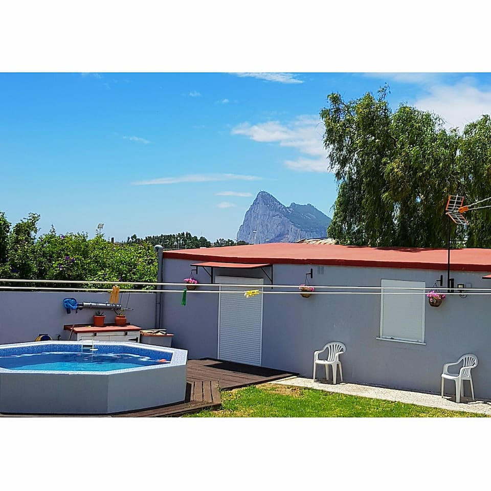 Self contained annex with views of Gibraltar