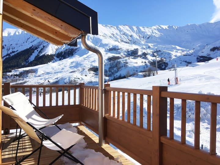 Skis aux pieds, départ et retour ! 60 m2, 8 pers.
