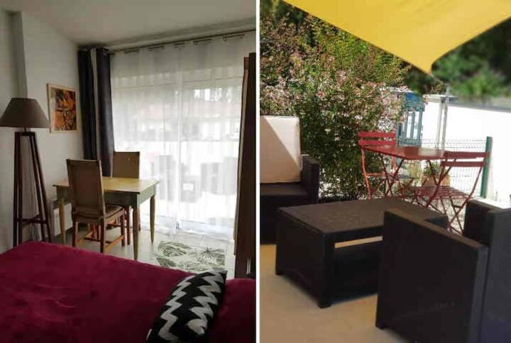 """Chambre  Studio 20 m2 """"au Bois Médoux"""", terrasse"""