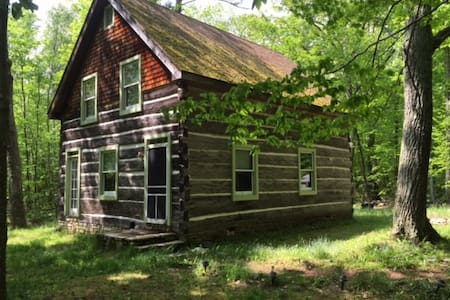 Fish Creek, WI: Sweet log cabin & meditation paths