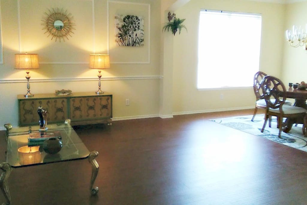 Salon and formal dining room
