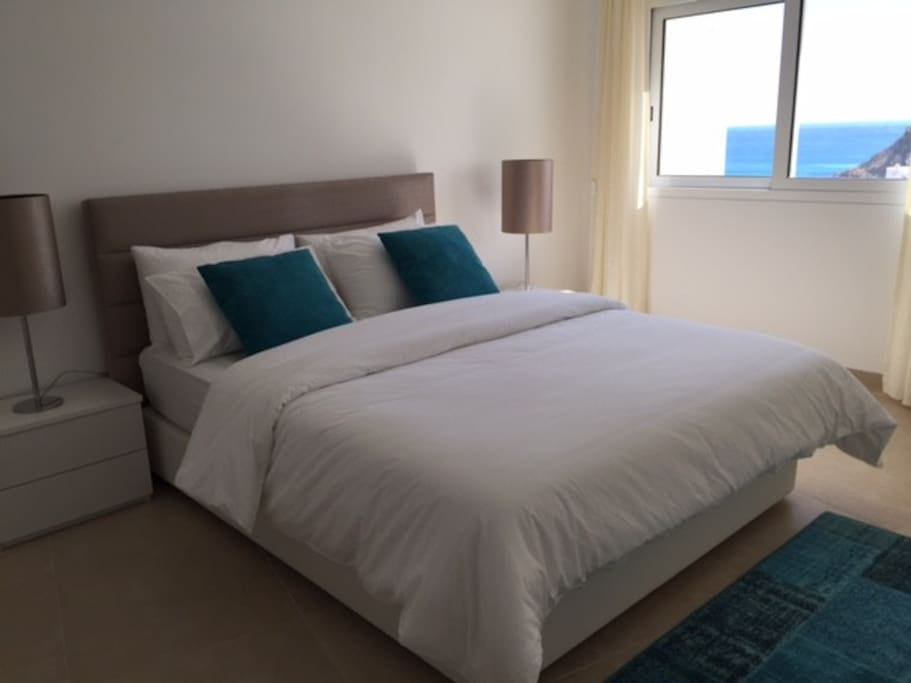 double bed room with sea view