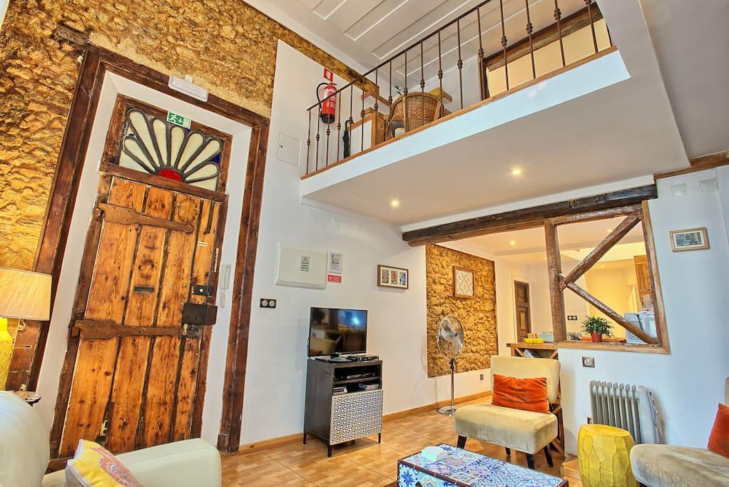 Living room and mezzannine