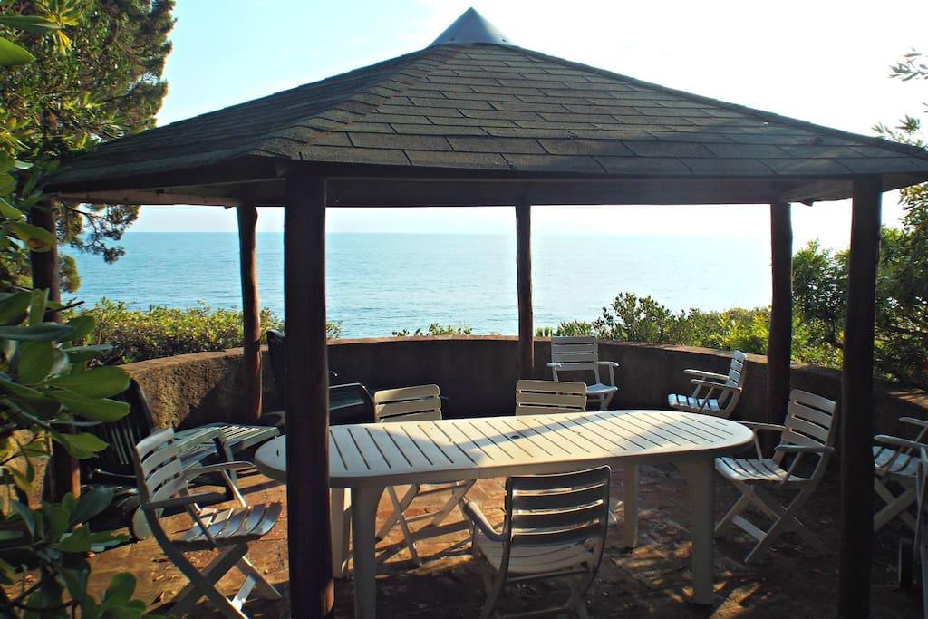 Outdoor terrace overlooking the sea