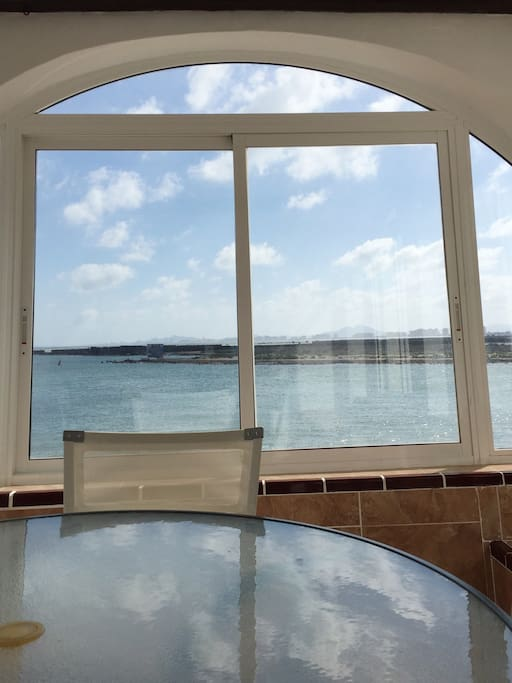 Sea view from the sun room-