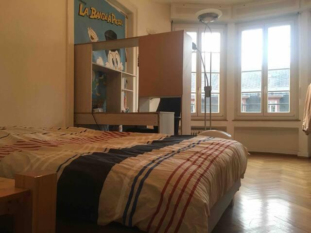 Chambre dans grand appartement à 2 pas du centre