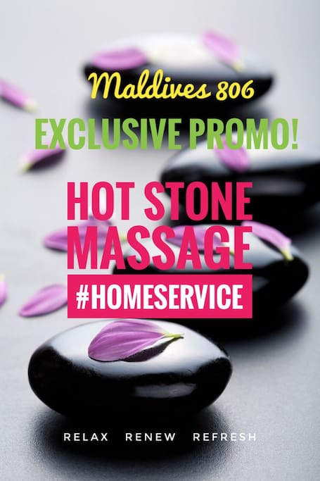 It's home service pampering exclusive to Maldives 806 guests