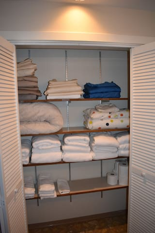 Extra linens available for your use as needed.