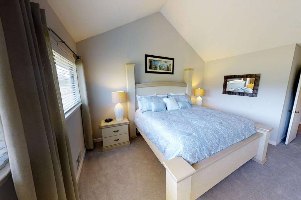 Updated Master Bedroom - King Size Bed