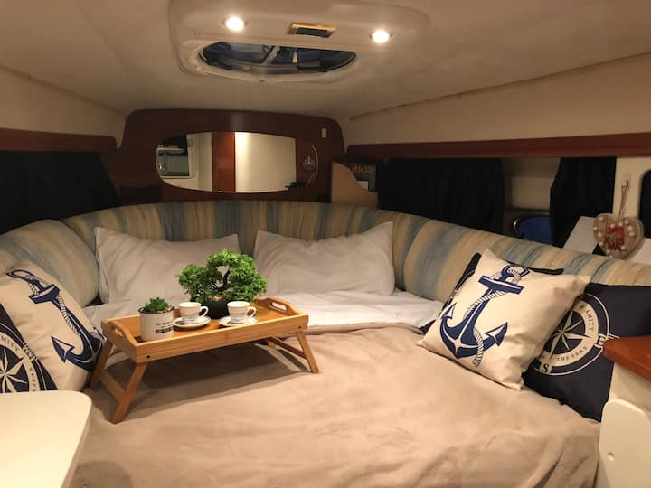 Sleeping on a boat in Menton
