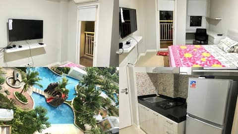Cozy Studio Apartment with Pool View, West Jakarta