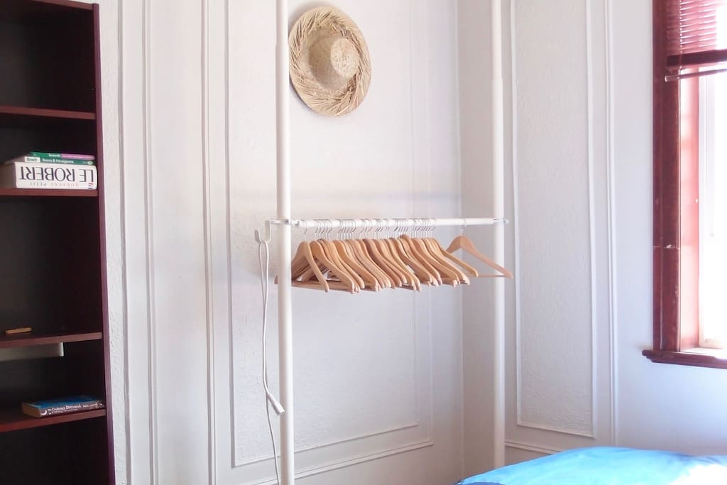 Plenty of storage space to organize your things throughout your stay.