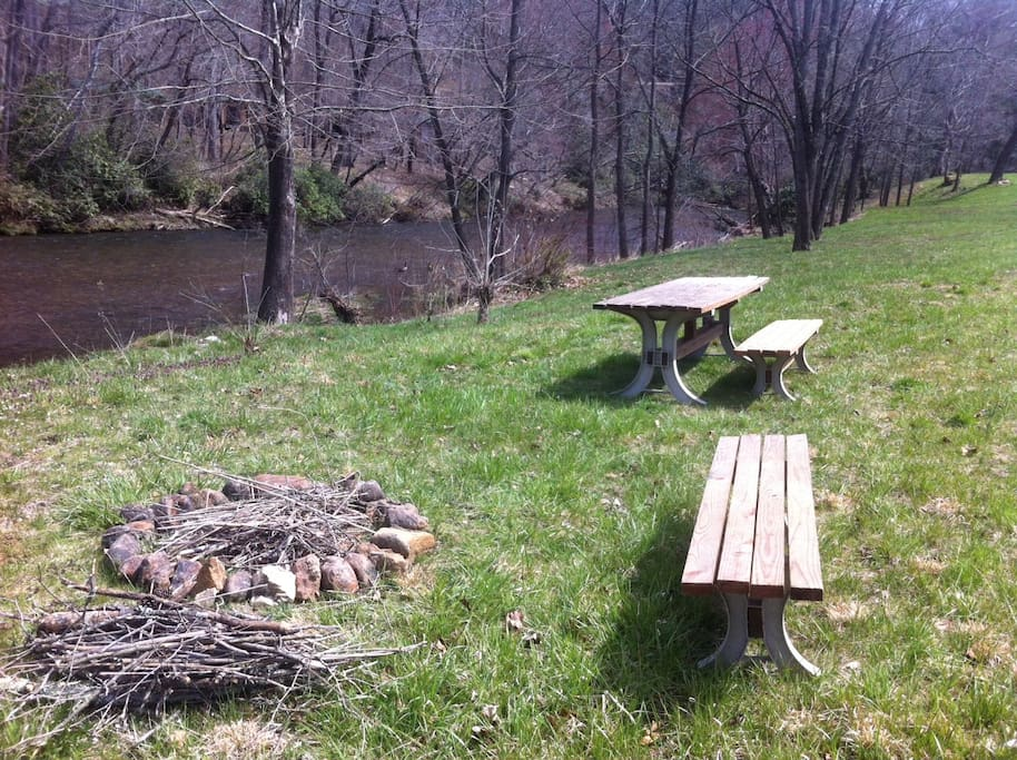 Enjoy a picnic, or relax by the river.  Floats are provided, for when conditions permit.