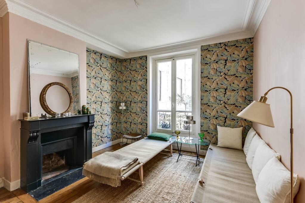 Living room with a bohemia spirit