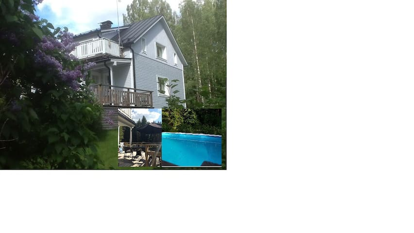 Large house - Heated swimming pool and 2 saunas
