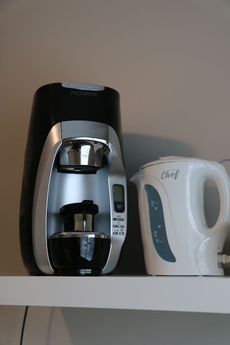 We provide a coffee maker and kettle
