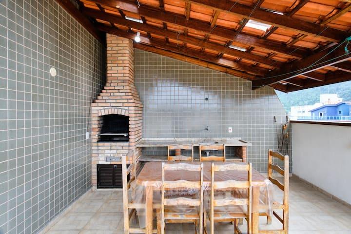 Cobertura Duplex c/ churrasqueira  Fabiano Ubatuba