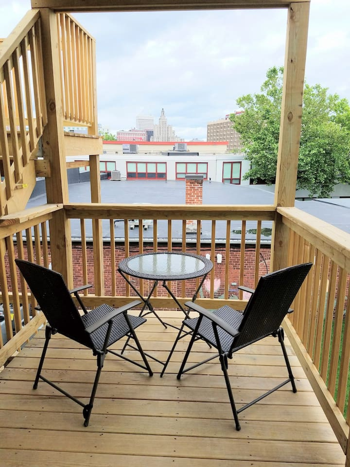Private deck w/ city view