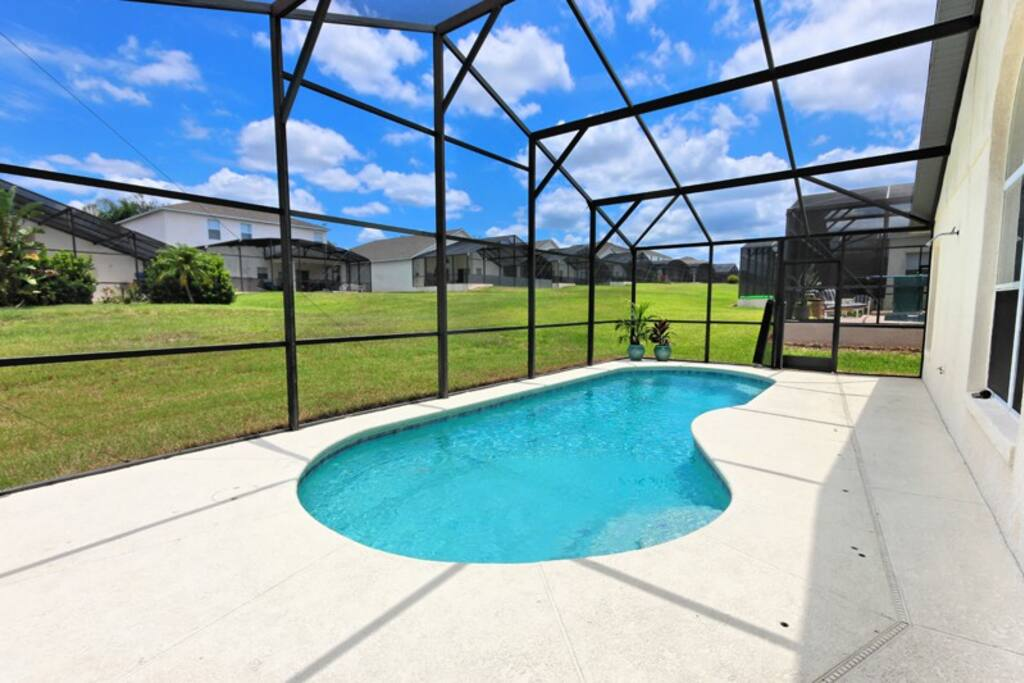 Screened pool, let the sun in and keep the bugs out!