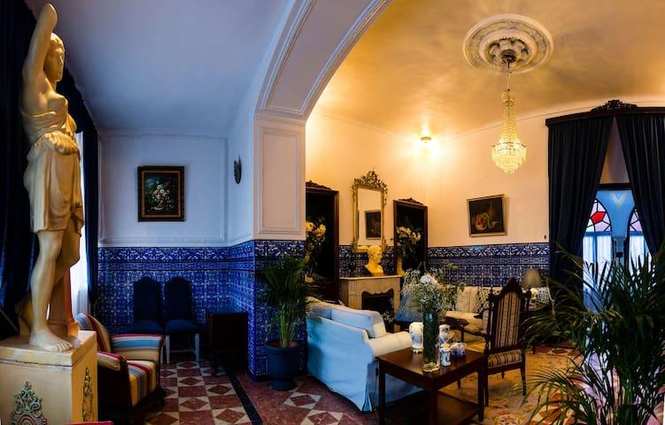 """""""Salón Amazona"""", acogedor salón de invierno a disposición de los huéspedes."""
