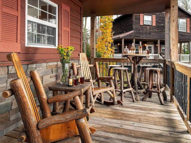 front porch with cool sassafras furniture