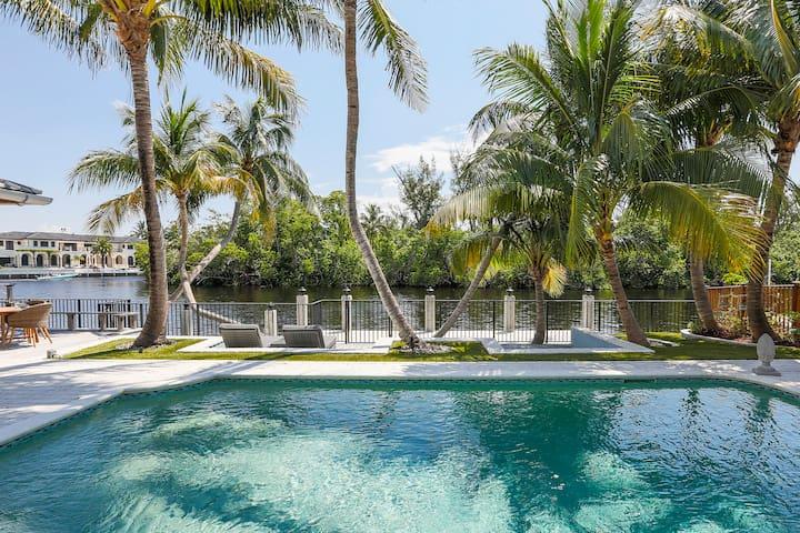 Luxury Deerfield Home w/Pool+Dock! Walk to Beach!