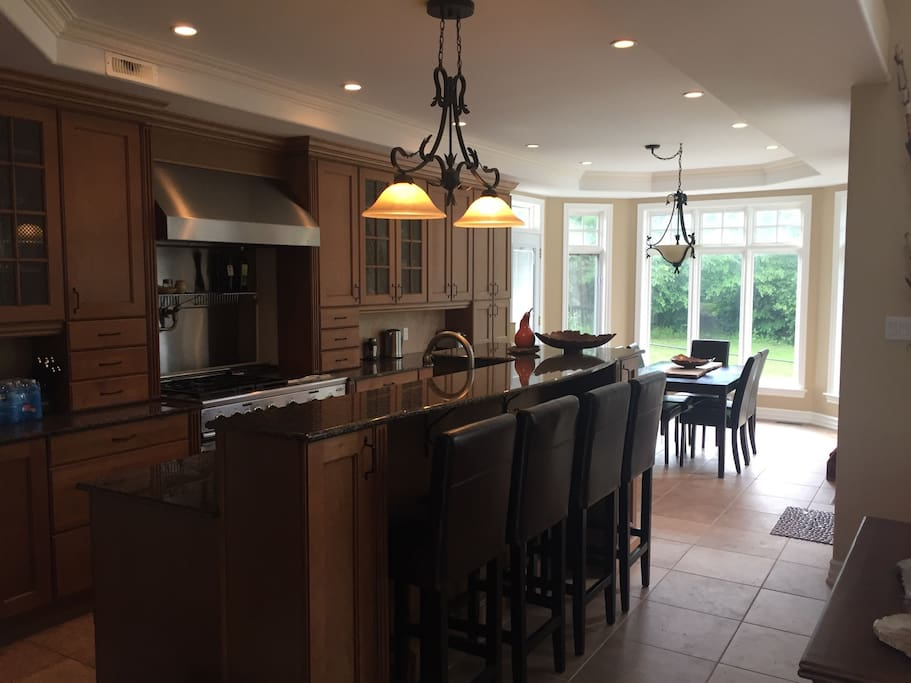 Kitchen with large gas stove