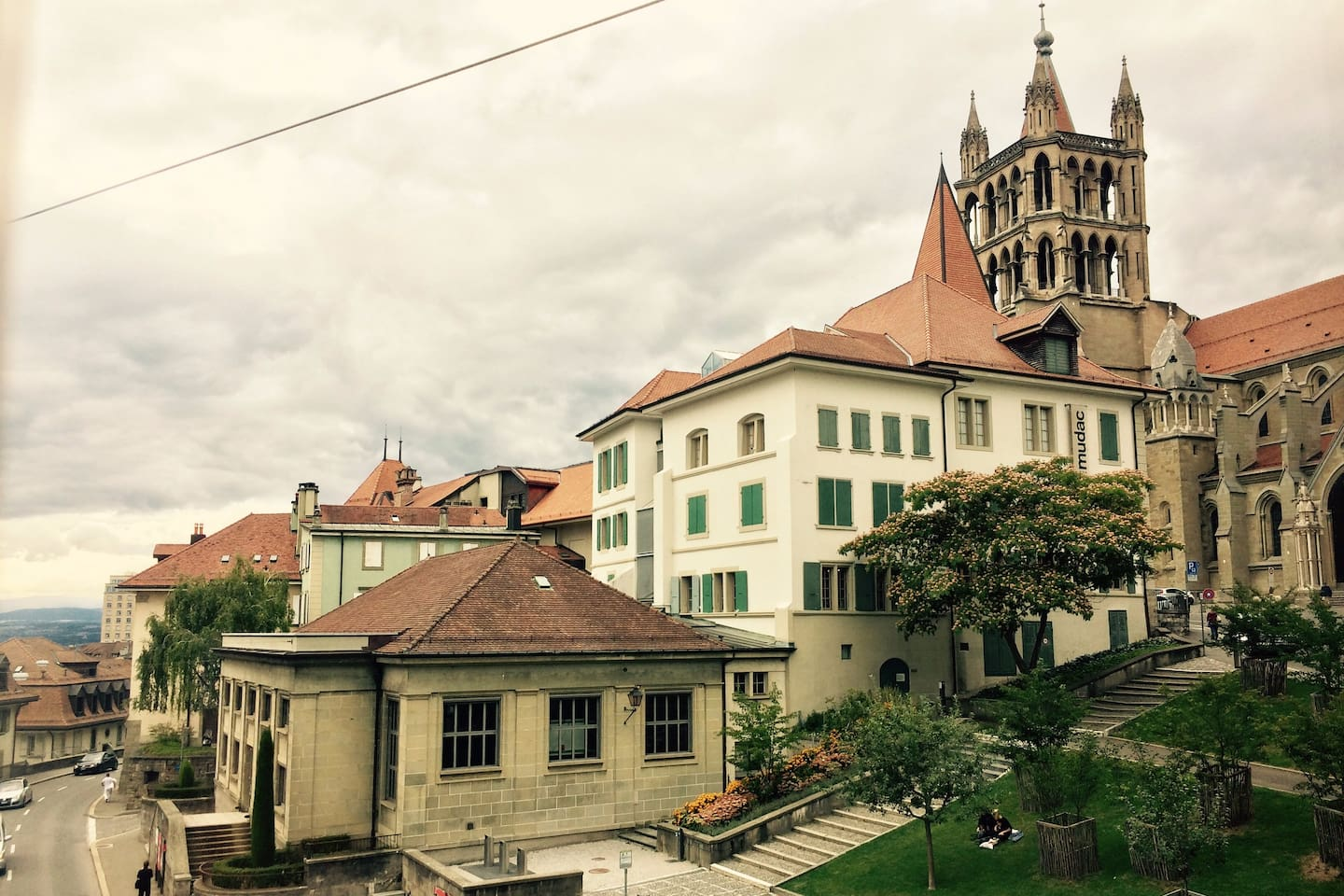 Lausanne Cathedral (view from the window)