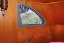 Automotive style bedroom windows