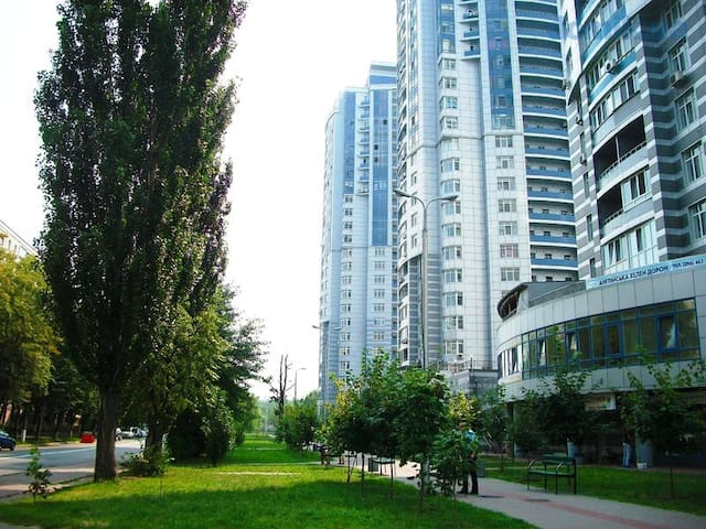 Large new fashionable apt close to downtown Kiev - Kiev - Apartamento