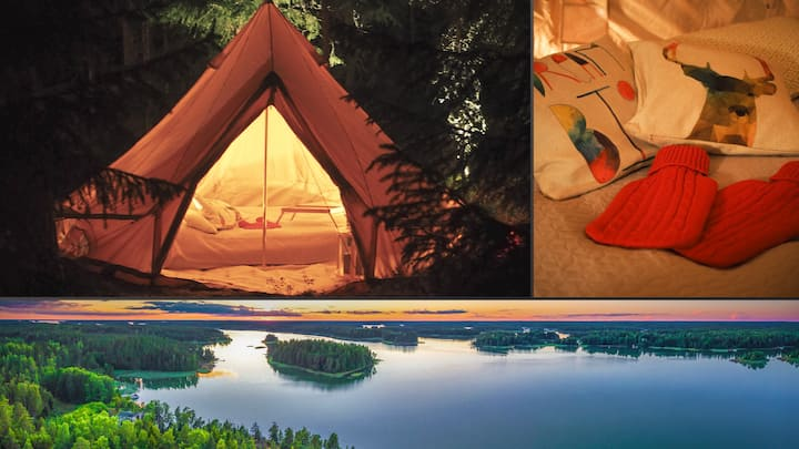 Glamping in the archipelago. A true island retreat