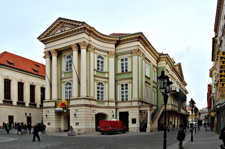 Book a ticket for performance in the Prague Estates Theater - place where played Mozart !  - only 7 min walk from the apartment