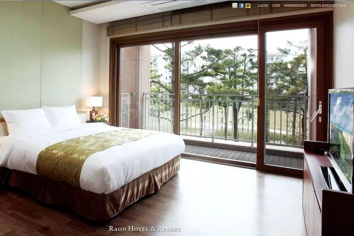 海景,沙滩附近,高级度假村的家 - Hallim-eub, Cheju