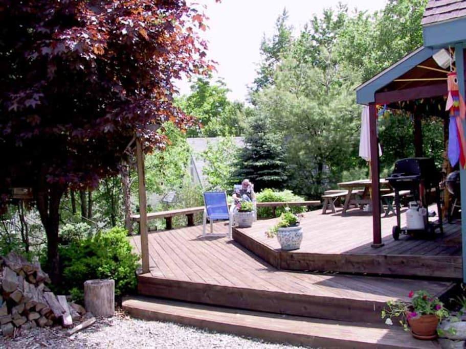Deck front porch