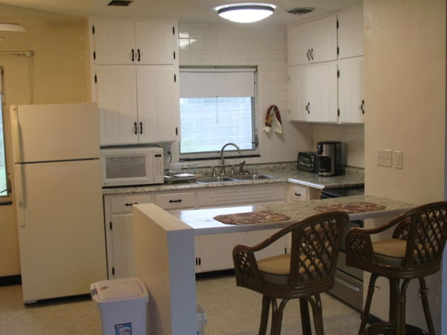 Open furnished kitchen