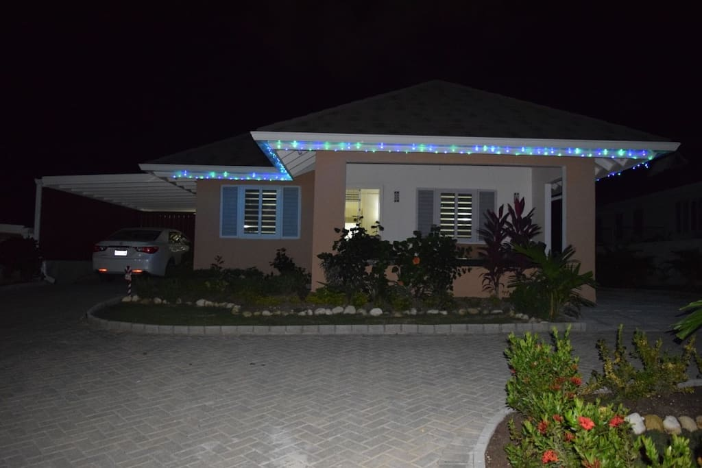 Front of house with landscaped garden and garage