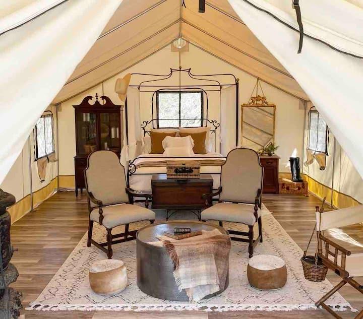 Primitive Luxury Glamping Tent