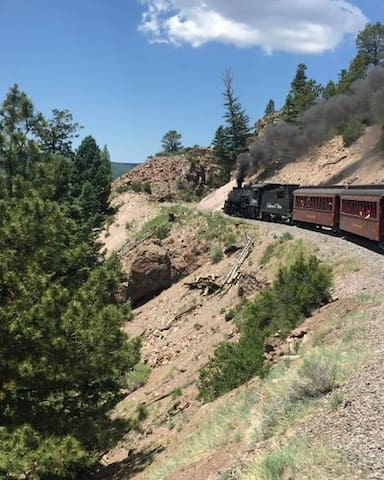 Take a scenic train ride along the NM/Colorado border- 1 hour away