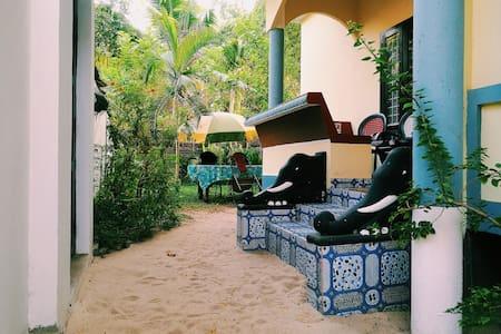 AC room with balcony and garden @Marari Sea Gold