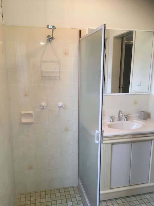 Bathroom.  Shower. No bath.
