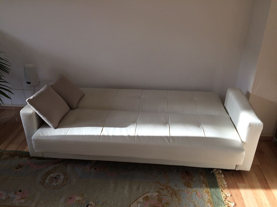 Sofa zum Schlafen. One more Sofa to sleep in the living room.