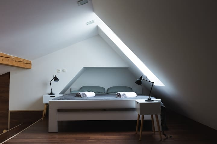 Bedroom with king-size bed